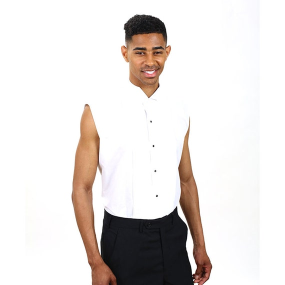 chemise blanche sans manches smoking homme. Black Bedroom Furniture Sets. Home Design Ideas