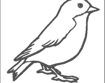 Sparrow Bird Machine Embroidery File Instant Download Swallow Small Bird