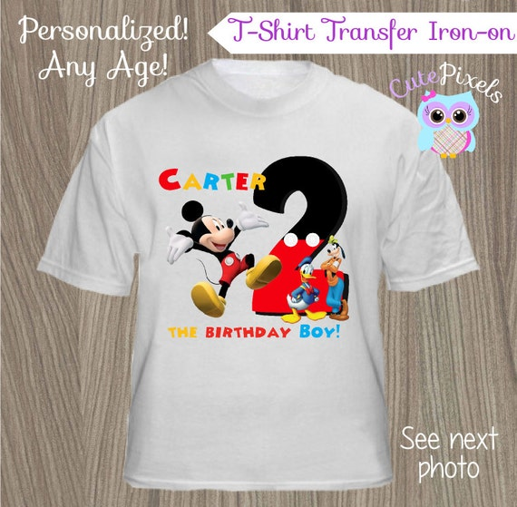 Mickey Mouse Clubhouse TShirt Iron-On Transfer, Mickey
