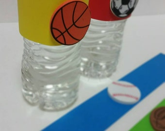 Sports party beverage labels