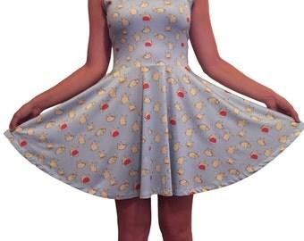 SIZE XS Baby Blue Pikachu Dress