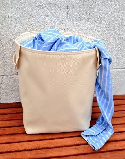 Large Denim Laundry Bag Natural Cotton Canvas By