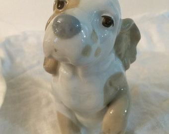 Puppy Figurine | Porcelain | Miguel Requenas | Made in Valencia Spain |Soft Colors | Gift for Dog Lover | Spaniel Figurine | Dog Statue |