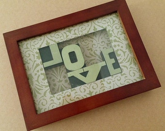 Woodblock Letters - LOVE