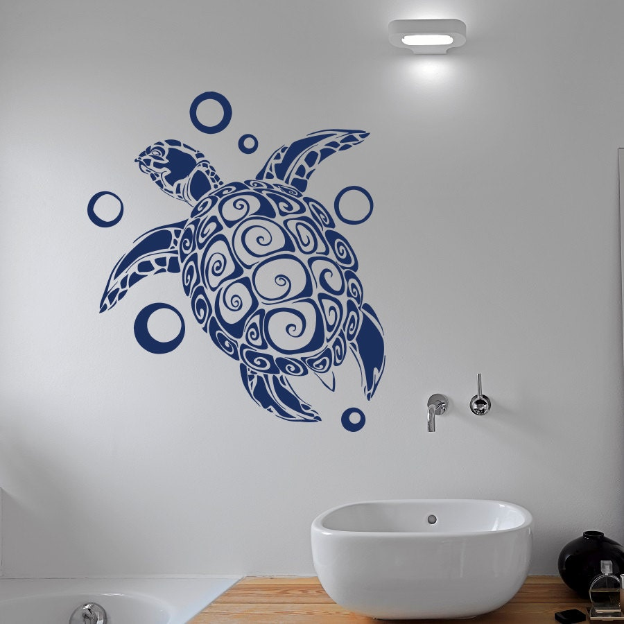 turtle wall decal sticker sea animals tortoise shell decals. Black Bedroom Furniture Sets. Home Design Ideas