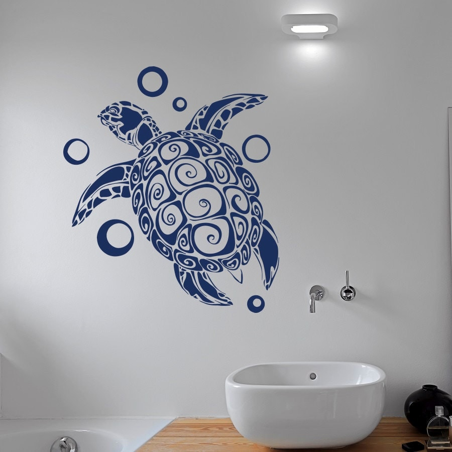 Turtle Wall Decal Sticker Sea Animals Tortoise Shell Decals