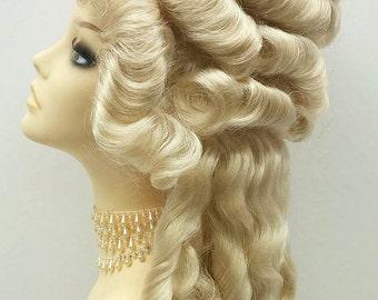Marie Antoinette Blonde Costume Wig. Marie-Antoinette perruque Costume. Colonial Style Wig [19-121-Marie-613]