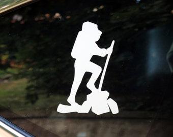 Hiking decal - car windows, laptop
