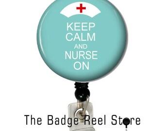 Retractable ID Badge Holder, Name Tag, Badge Reel, ID holder, Nurse On