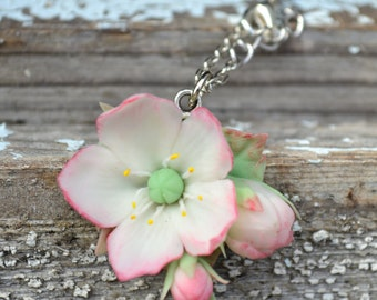 Pendant apple blossoms. Spring pendant. Spring flowers. Natural pendant. Flower jewelry
