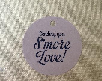 Smore Wedding Favor, Wedding Favor, Smore Favor Tags, Wedding Favor Tags