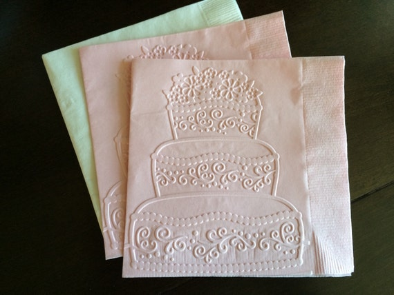 Wedding Cake Paper Napkin Cocktail Napkin Wedding By SteshaParty
