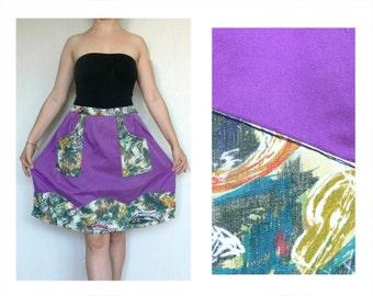 Apron Vintage, violet purple