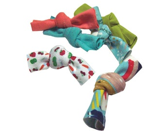 Toss Knot Catnip Toys - Upcycled materials stuffed with our all-natural homegrown catnip, guaranteed fun!