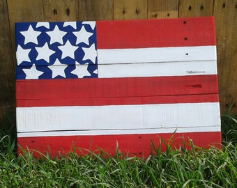 American Flag Pallet Painting