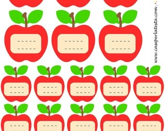 Apple printable labels