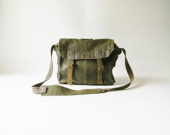 Small Army Green Canvas Bag