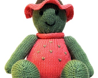 SHELLY THE TURTLE, hand knitted toy, handknitted toy, hand knitted turtle, knitted girl turtle, green knitted turtle, soft plushie toy,