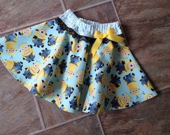 Minions, Minion Birthday, Minion Skirt, Minion Birthday Outfit, Despicable Me 3, Baby Minion Outfit, Girl Minion Outfit, Handmade