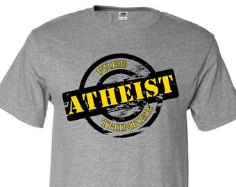 Atheist Free Thinker Stamp Custom T-Shirt