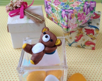 Little animals Favors / Miniatures / Children / Birth / Small boxes and sugared almonds / Cute and pretty / Customizable / Packaging