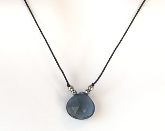 London Blue Quartz Briolette Necklace