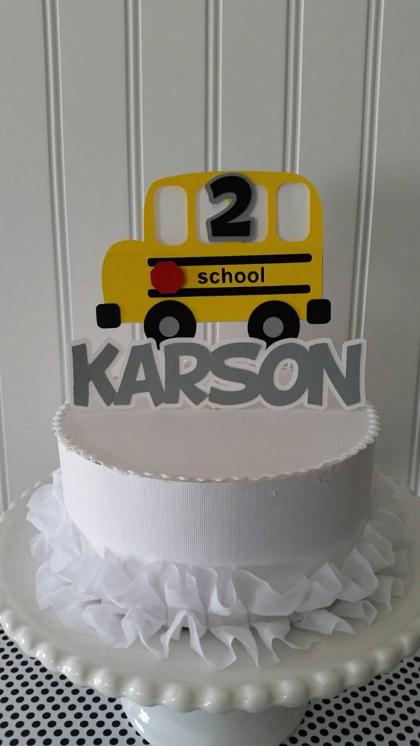 Yellow School Bus Cake Topper Yellow School Bus Cake School