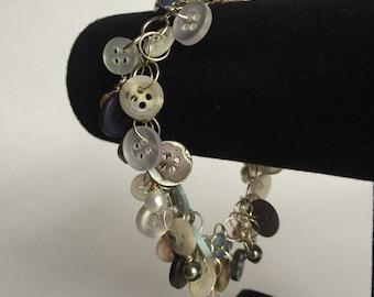 Natural Shaggy Loop Button Bracelet