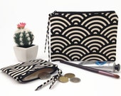 Large wallet women, Black clutch wallet, Purse organiser, Passport wallet, Coin purse, Gift for her, Travel organiser, Zipper clutch wallet