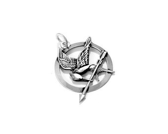 The Hunger Games Mockingjay Silver Pendant