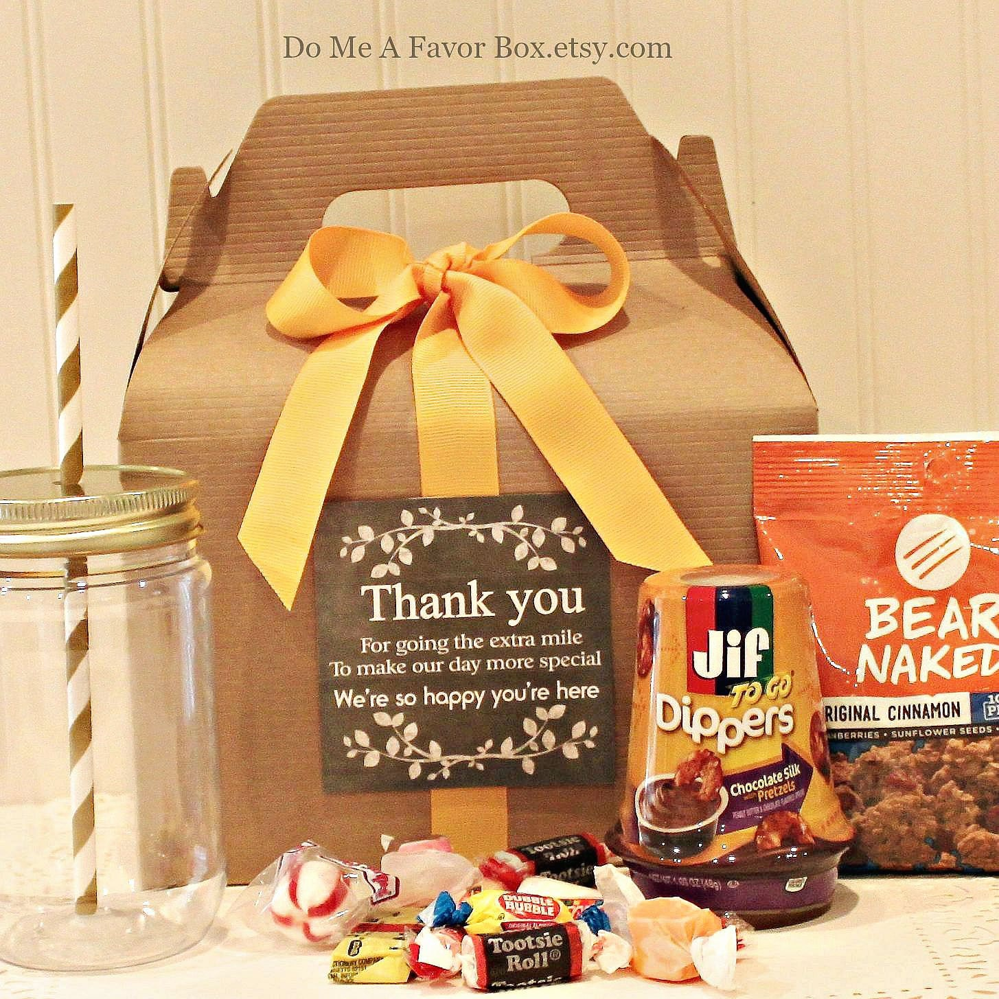 Gift Boxes For Out Of Town Wedding Guests : Wedding Favors 6 Out of Town Guest Boxes Wedding Welcome