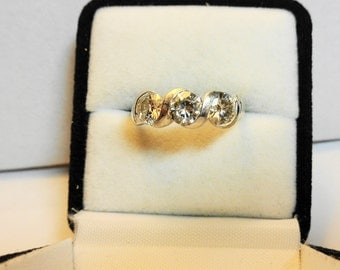 Moissanite Ring.  Set in a 14kt. White Gold Ring.