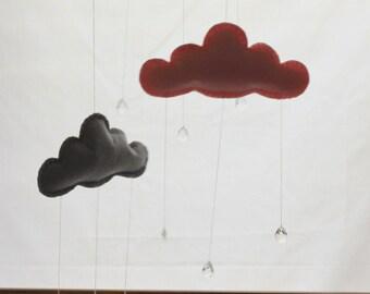 Cloud baby crib mobile