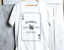 Ace of Spades Los Angeles T-shirt Los Angeles unisex t shirt Mens t shirt Womens t shirt Unisex tees playing card t shirt