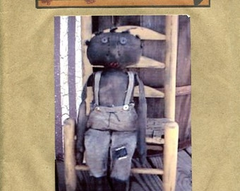 FREE US SHIP Primitive Nook Primitive Folk Art Black American Doll Folk Art Uncut Old Store Stock Sewing Pattern Ragdoll
