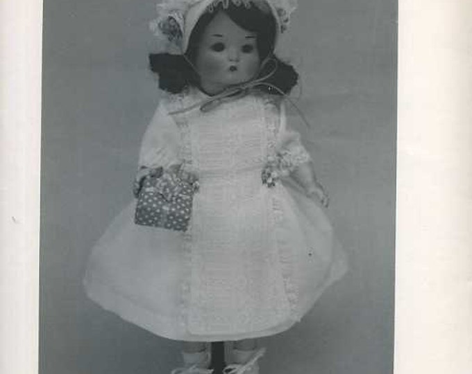 FREE usa SHIP Byron Doll Pattern 1980's Googly Just me Fits 12.5 Doll clothes 75 Old Store Stock Sewing Pattern