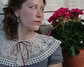 Crochet collar Crochet necklace Detachable collar Boho cream necklace Cream lace collar Vintage bride Retro party Handmade Gift for her