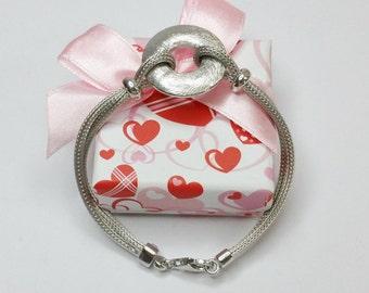 925 Silver snake bracelet 18,5 cm SA120