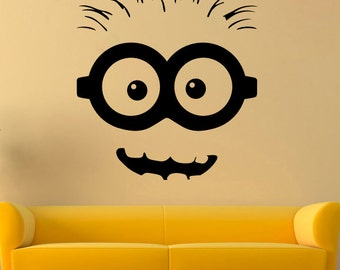 Minions Wall Decal Etsy - Minion wall decals