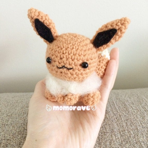 Pokemon Derpy Eevee Crochet/Amigurumi