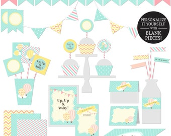 Up, Up & Away Party Printables - JPEG Instant Download