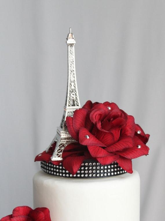 Paris Themed Wedding Cake Topper