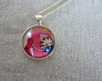Princess Bubblegum with Peppermint Butler - Adventure Time Necklace