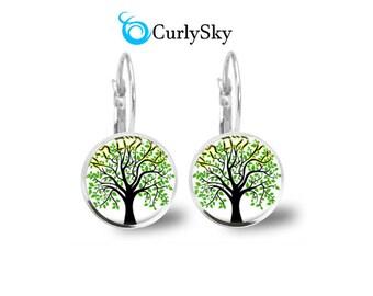 Environment Earrings Black Tree Earrings Environment Art Earrings Black Tree Earrings Environment Art Earrings Black Tree Dangles Earrings