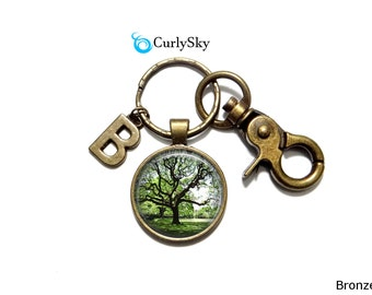 Olive Green Keychain Olive Forest Keychain Olive Tree Keychain Forest Keyring Forest Tree Keychain Olive Green keychain Forest Accessory