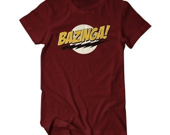Bazinga Sheldon T-Shirt - big bang theory Cooper
