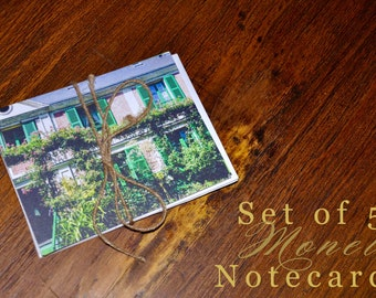 Monet's House and Gardens Notecards | Set of 5