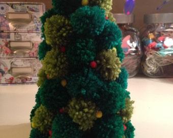 Pom Pom Christmas Tree - 9ins