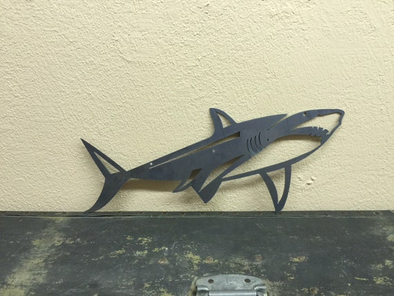 Shark Wall Art shark metal art jaws metal wall decor fixer upper boys