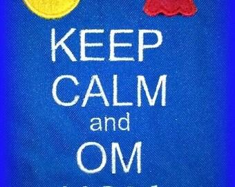 Keep Calm and Om Nom Applique Design Machine Embroidery Designs